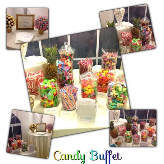 We do candy buffets and chocolate fountains