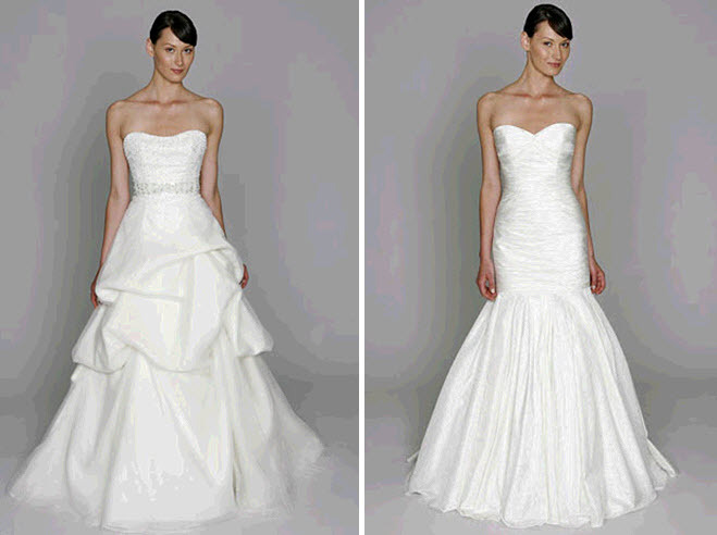 2011 wedding dresses from Bliss by Monique Lhuillier- sweetheart neckline and jeweled bridal belt