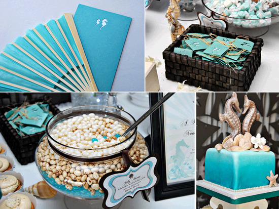 Yummy dessert bar at beach-themed Long Branch, NJ wedding
