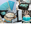 Aqua-beach-themed-new-jersey-wedding-dessert-bar-at-wedding-reception-seahorse-wedding-cake-topper.square