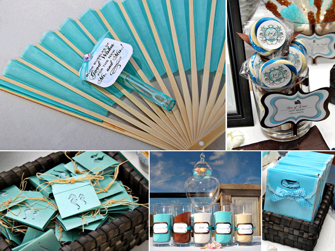 Outdoor Long Branch Beach Themed Wedding Aqua Wedding Programs And