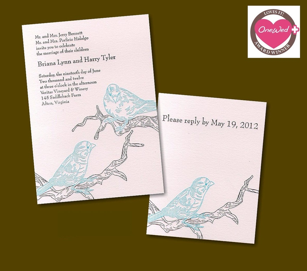 Win-25-letterpress-wedding-invitations-pink-black-modern-design-bird-nature-motif-save-win-weekly-giveaway.full