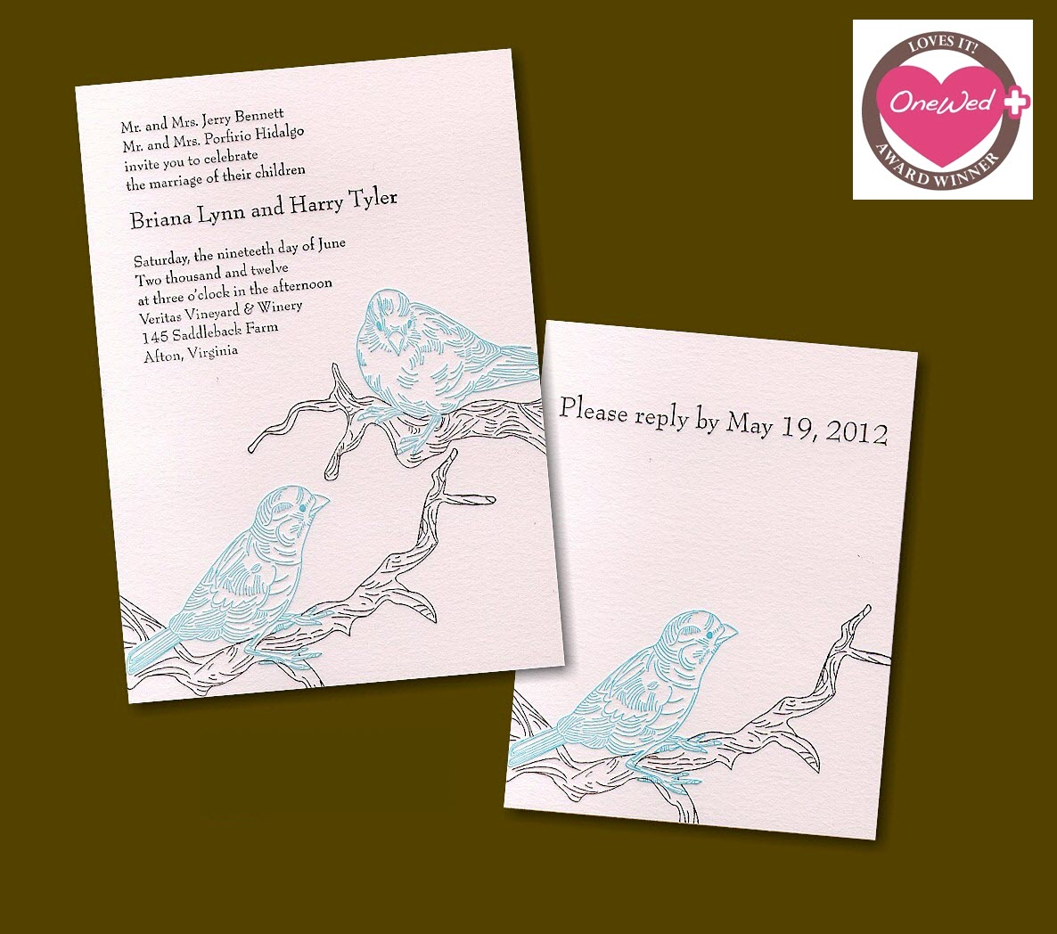 Nature Themed Wedding Invitations These Nature Inspired Letterpress Wedding Invitations Are