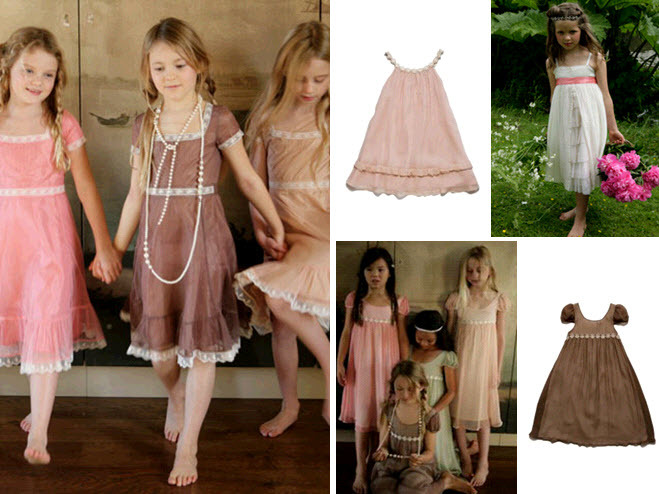 Cute-youthful-bohemian-junior-bridesmaid-dresses-chocolate-brown-pink-green.full