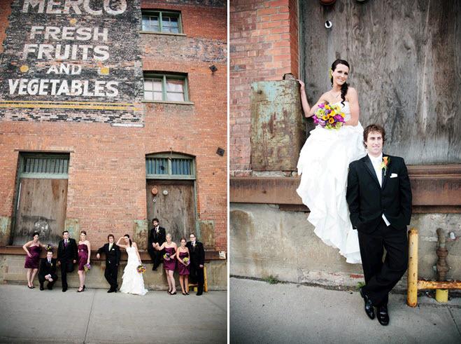 Urban-wedding-photography-california-wedding-maroon-bridesmaids-dresses-classic-black-tuxedos.full