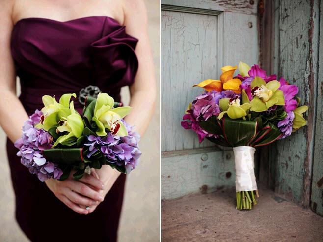Vibrant-wedding-flowers-california-wedding-hydrangeas-orchids-green-purple-fuchsia-orange.full