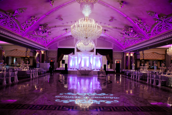 Purple Glamorous Reception