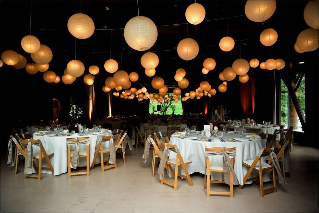 Gorgeous Shot Of Sundance Ut Wedding Reception Venue White Paper Lanterns Galore