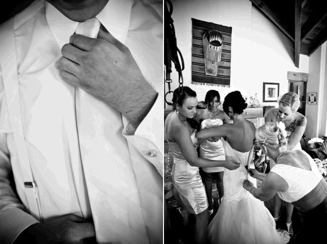 Real-wedding-sundance-utah-outdoor-rustic-wedding-venue-groom-wears-white-tux-shirt-and-tie-bride-wears-romantic-lace-wedding-dress-2.full