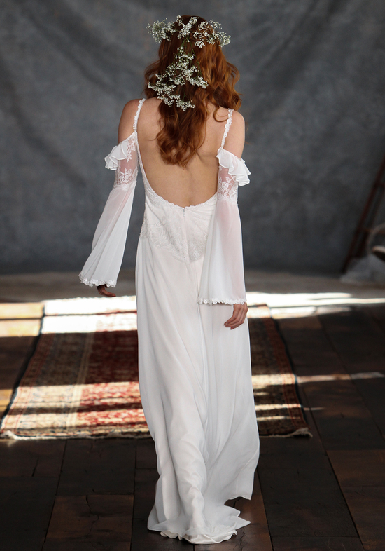 Laurel Wedding Dress Back from Claire Pettibone s Romantique Collection