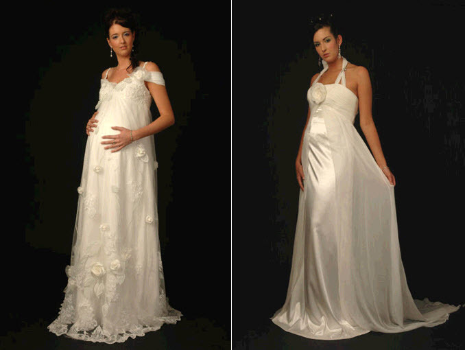 Maternity-wedding-dresses-for-expectant-brides-romantic-empire-sheath.full