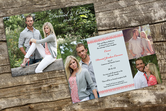 "5"" x 7"" Wedding Invitation"