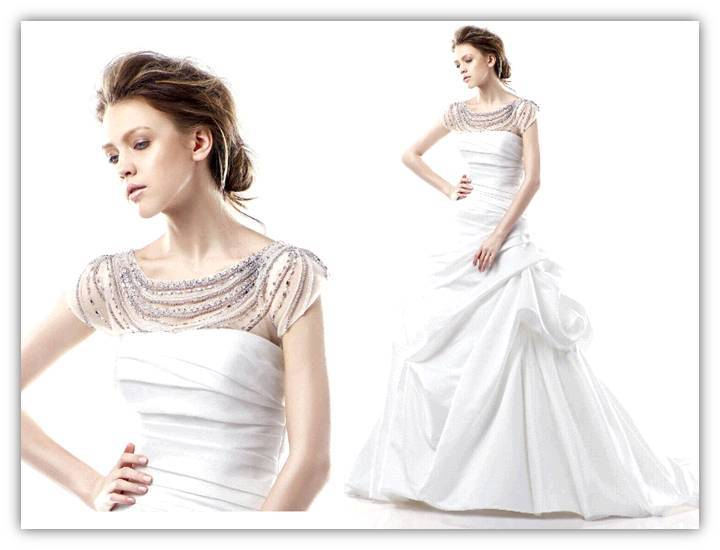 Dalian-white-wedding-dress-sheer-illusion-top-embroidered-with-strands-of-metallic-beading-detail.full