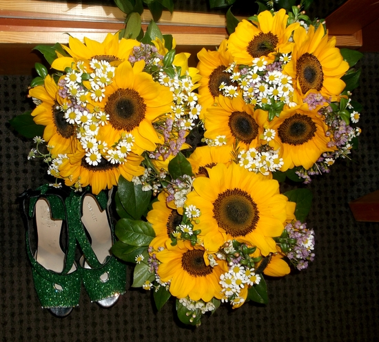 sunflower bridesmaids