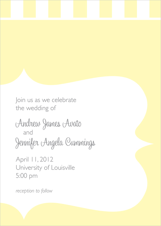 Yellow Striped Invite