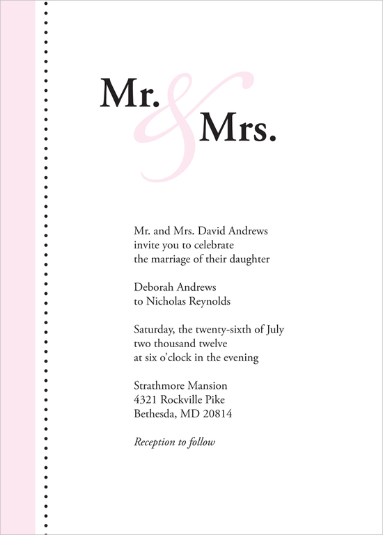 Pink Ampersand Invite