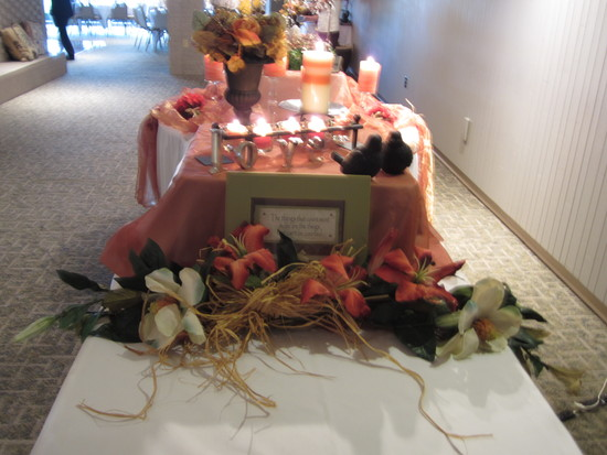 decorated buffet line