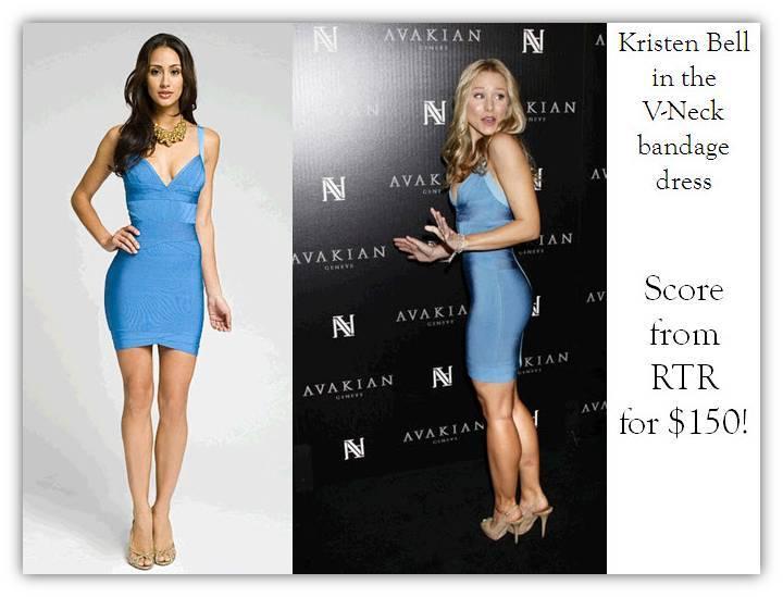 Kristen-bell-wearing-blue-herve-leger-bandage-dress-rent-for-engagement-party-2.full