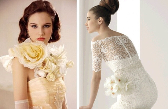 Customize your simple wedding dress with vintage embellishments and unexpected details