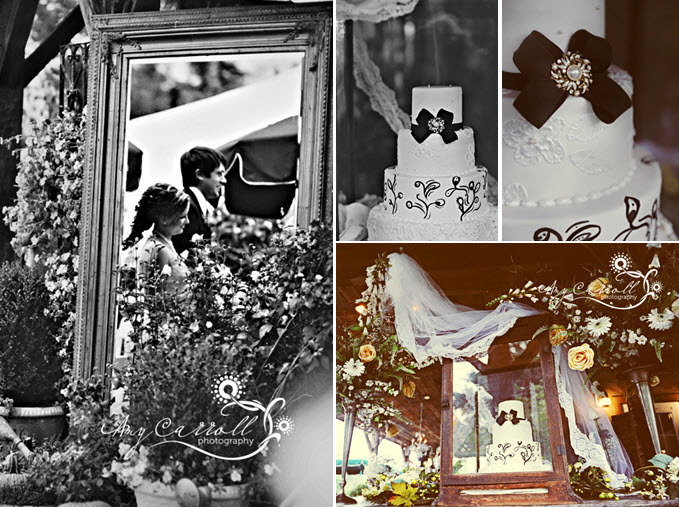 Vintage-chic-antique-wedding-black-white-wedding-cake.full