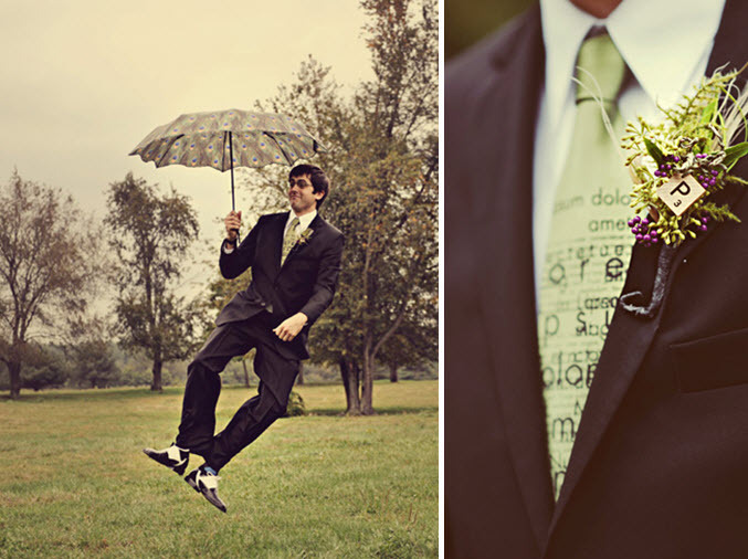Vintage-artistic-quirky-groom-jumps-with-parasol-unique-floral-boutinierre.full