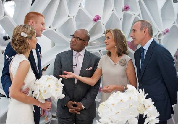 Today-show-wedding-al-roker-matt-lauer-bride-in-lace-wedding-dress-vintage-wedding-hairstyle.full