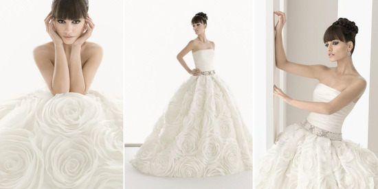 Romantic ballgown wedding dress from Aire Barcelona