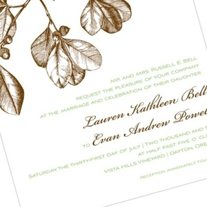 photo of Wedding Invitation Trend: Including Mother Nature
