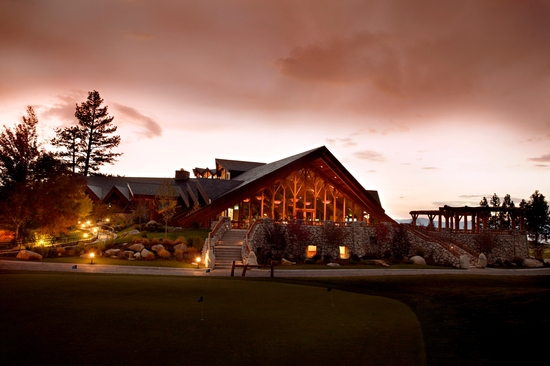 The Edgewood Tahoe at night- a romantic, stunning venue for your destination wedding