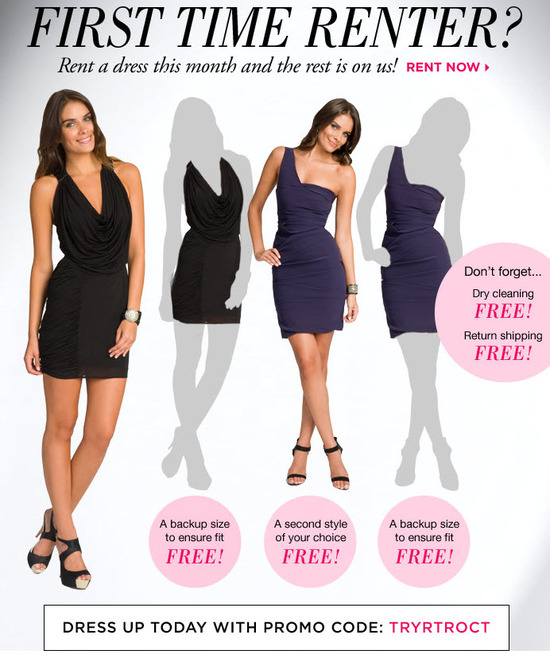 October special from Rent the Runway- pay for one dress rental, get THREE free!
