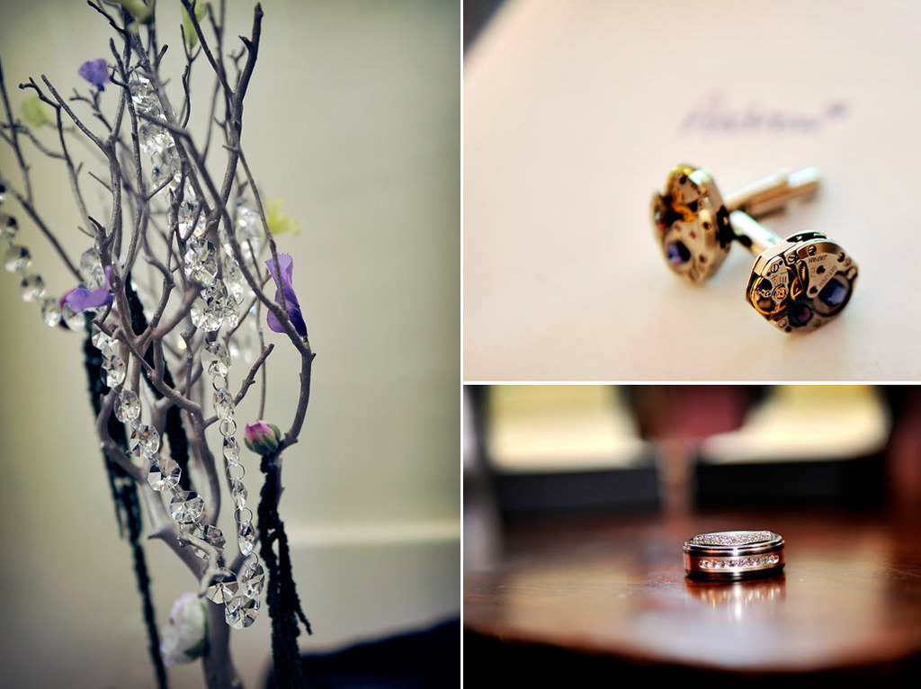 Maryland-featured-wedding-details-manzanilla-branches-hanging-crystals-grooms-gold-cufflinks-wedding-bands-pave-diamonds.full