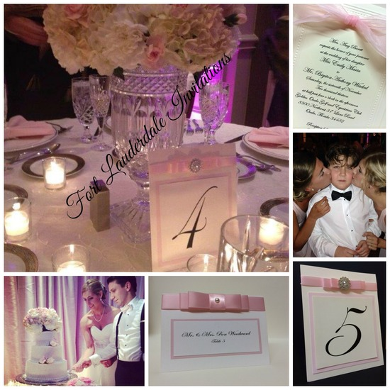 Classy Pink Wedding Suite by Fort Lauderdale Invitations