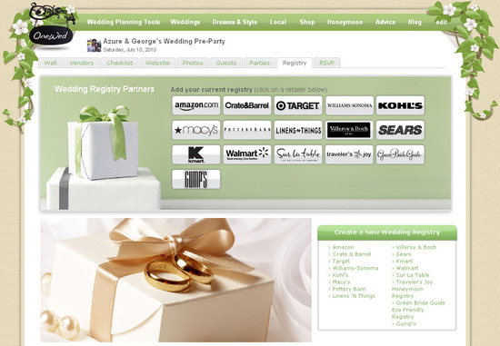 How are you setting up your bridal registry? Is brand name important to you?
