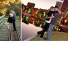 Houston-tx-e-session-photos-discovery-lake-during-sunset-vibrant-lights-fall-scene-on-tracks.square