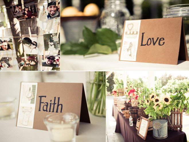Romantic-wedding-reception-tablescapes-table-names-hope-love-rustic-vibe-decor-sunflowers.full