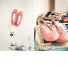 California-country-chic-wedding-coral-ballet-flats-bridal-shoes.square