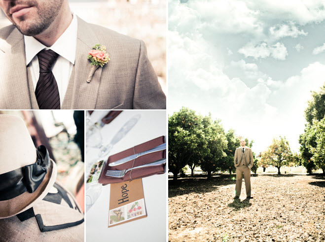 Casual-california-groom-outdoor-winery-wedding-grey-taupe-suit-chocolate-brown-tie-sentimental-tablescape.full