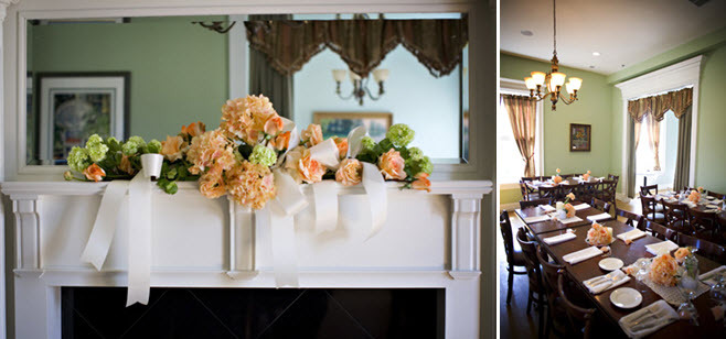 Kentucky-plantation-wedding-venue-wedding-flowers-reception-decor-peach-peonies-table-centerpieces-white-ribbon.full