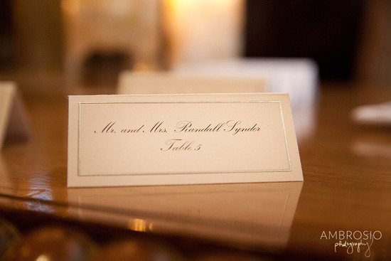 Real Weddings: Andrew & Cristina - PlaceCard