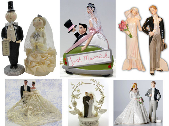 photo of 5 Favorite Eco-Friendly Wedding Cake Toppers from Recycled Bride