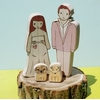 Wedding-cake-eco-friendly-cake-toppers-natural-wood-bride-groom-dogs.square