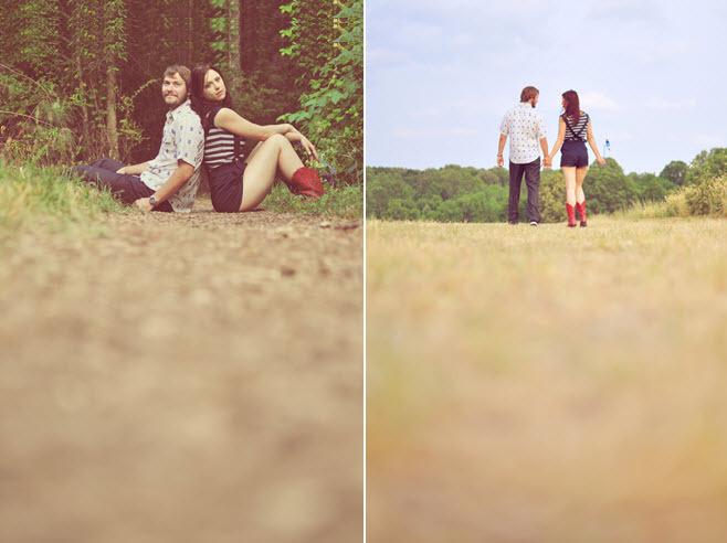 Outdoor-casual-engagement-shoot-woods-trees-field-bride-groom-walk-hand-in-hand.full