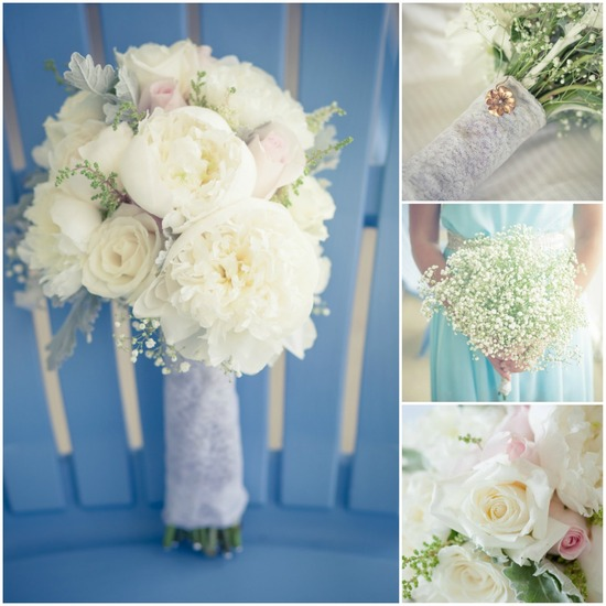 Beautiful Bridal Bouquet with Broach