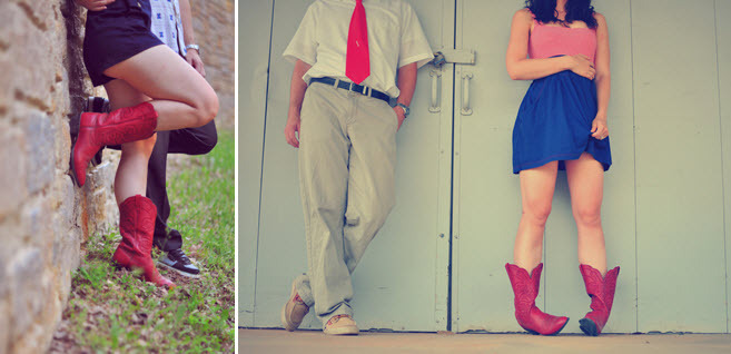 Hillary-mercer-casual-hipster-engagement-photos-red-cowboy-boots-bride-groom-pose-1.full
