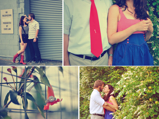 Outdoor-vintage-chic-engagement-session-red-white-blue-stripes.full