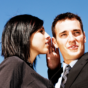 Office gossip can be bad for your work life and your wedding guest list.