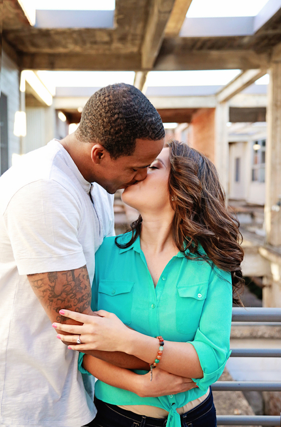 Urban Engagement Session Kisses
