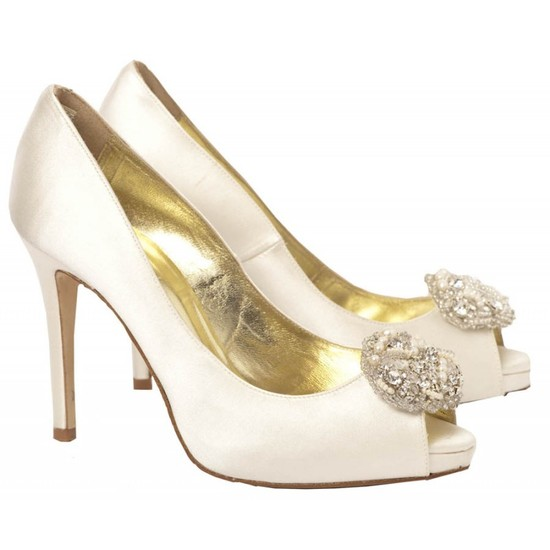 Alana Bridal Shoe with freshwater pearls and crystals