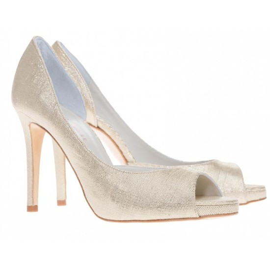 Eva Bridal Shoe in Champagne