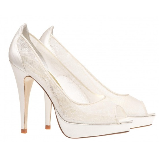 Michelle Bridal Shoe with Chantilly Lace